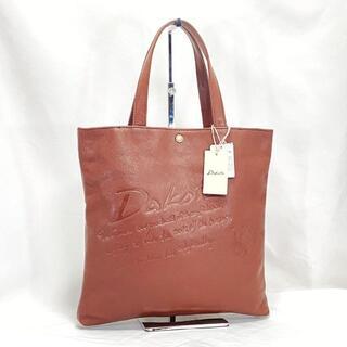 ダコタ(Dakota)のタグ付新品☆Dakota ダコタ トートバッグ ロゴ ブラウン レザー 本革(トートバッグ)