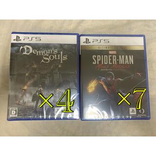 プレイステーション(PlayStation)のps5 デモンズソウル スパイダーマン(PCゲームソフト)