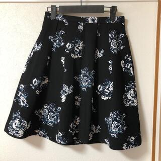 グローブ(grove)のgrove 花柄スカート(ひざ丈スカート)