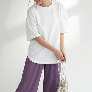 半袖カットソー 後ろ長め フリーサイズ(Tシャツ(半袖/袖なし))