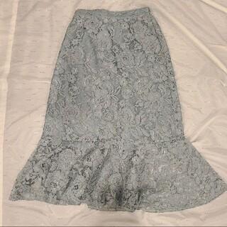ナイスクラップ(NICE CLAUP)の淡いブルーマーマイドスカート(ロングスカート)