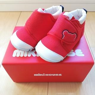 ミキハウス(mikihouse)の新品 未使用 タグ付き☆ミキハウス☆ファーストシューズ 12㎝ 靴 赤(スニーカー)