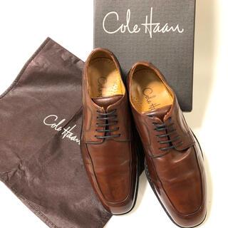 コールハーン(Cole Haan)の【COLE HAAN】コールハーン Uチップ 革靴 US:6.5 箱 袋付き(ドレス/ビジネス)
