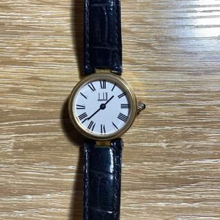 ダンヒル(Dunhill)のダンヒル クォーツ 腕時計 白文字盤 925 革ベルト ローマ文字(腕時計)