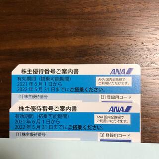 エーエヌエー(ゼンニッポンクウユ)(ANA(全日本空輸))のむーむー様専用 ANA株主優待券2枚セット(航空券)