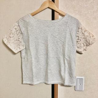 アダムエロぺ(Adam et Rope')のAdam et Rope シースルー袖 Tシャツ トップス 38 グレー 灰色(Tシャツ(半袖/袖なし))