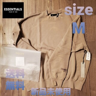 fog essentials sweatshirt size M tan