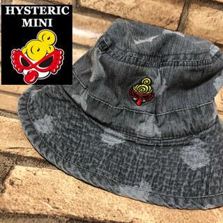 ヒステリックミニ(HYSTERIC MINI)の【HYSTERIC MINI】デニム ハット 帽子 ミニちゃんワンポイント(帽子)
