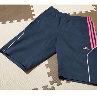 アディダス(adidas)の☆adidas アディダス ハーフパンツ ネイビー&ピンク サイズL(ショートパンツ)