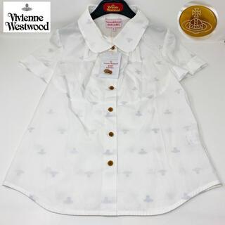 ヴィヴィアンウエストウッド(Vivienne Westwood)の新品☺︎Vivienne Westwood 半袖シャツ オーブ 丸襟 ホワイト(シャツ/ブラウス(半袖/袖なし))