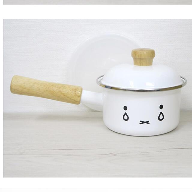 富士ホーロー(フジホーロー)のミッフィー ホーロー ソースパン インテリア/住まい/日用品のキッチン/食器(鍋/フライパン)の商品写真