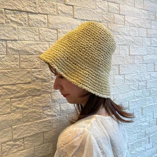 ザラ(ZARA)の韓国麦わら帽子 ベージュ(帽子)