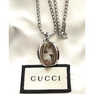 グッチ(Gucci)のGUCCI  シルバークロスGネックレス(キーホルダー)