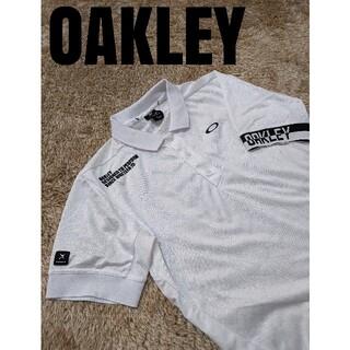 オークリー(Oakley)のろい様専用 オークリー ポロシャツ OAKLEY ドクロ 白 美品(ポロシャツ)