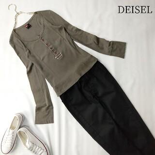 ディーゼル(DIESEL)のDIESEL ディーゼル 長袖カットソー ボタン付き カーキ Sサイズ(Tシャツ/カットソー(七分/長袖))