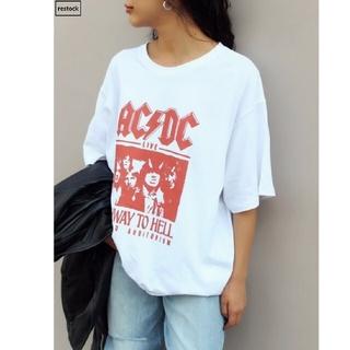 シャガデリック(SHAGADELIC)のAC /DC  オーバーサイズプリントT(Tシャツ/カットソー(半袖/袖なし))