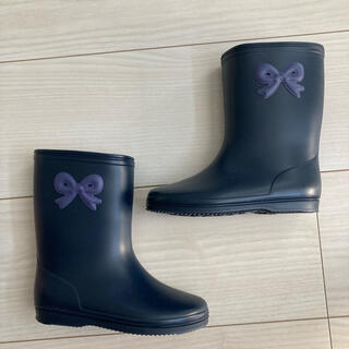 ファミリア(familiar)の新品未使用 ネイビー長靴(長靴/レインシューズ)