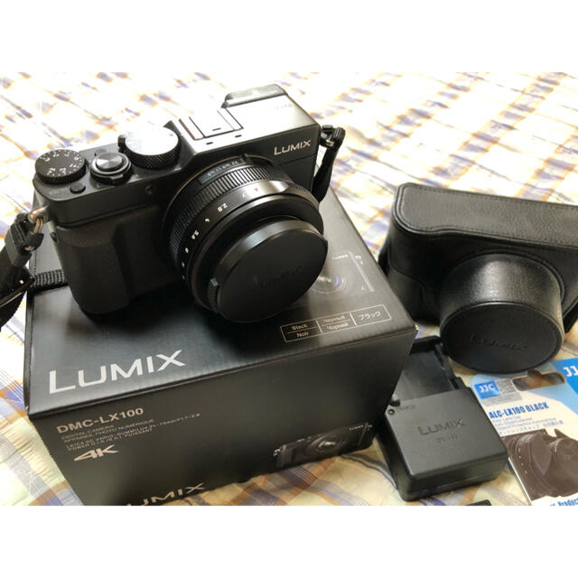 Panasonic(パナソニック)のPanasonic LUMIX LX DMC-LX100-Kセット スマホ/家電/カメラのカメラ(コンパクトデジタルカメラ)の商品写真