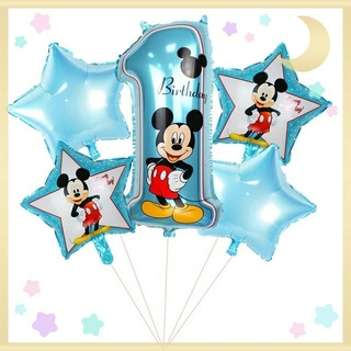 Disney - ディズニーバルーン★バースデー飾り★ミッキー1歳