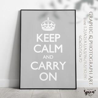 ☆インテリアアートポスター/A2/Keep Calm【127】 GR(アート/写真)