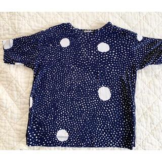 ミナペルホネン(mina perhonen)のミナペルホネン skum キッズ半袖カットソー 100 綿(Tシャツ/カットソー)