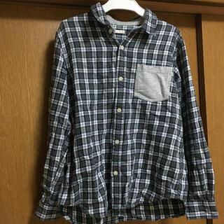 ジーユー(GU)の長袖シャツ フランネルシャツ 150cm 男の子 ボーイズ 子供 ジュニア(ブラウス)
