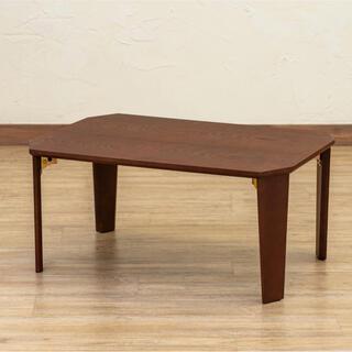 PARKER 折脚テーブル 70×50 ブラウン(ローテーブル)