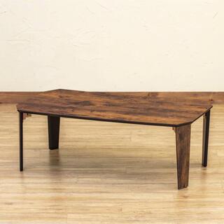 PARKER 折脚テーブル 90×50 ヴィンテージブラウン(ローテーブル)