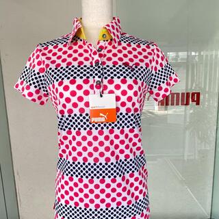 プーマ(PUMA)のpumaレディースドット柄ポロシャツSサイズ(ポロシャツ)