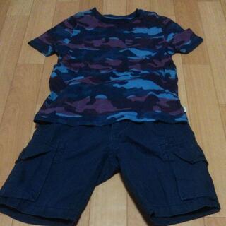 ギャップキッズ(GAP Kids)のGAPKID半袖Tシャツと短パンセット★120cm★一度のみ着用★セール(Tシャツ/カットソー)