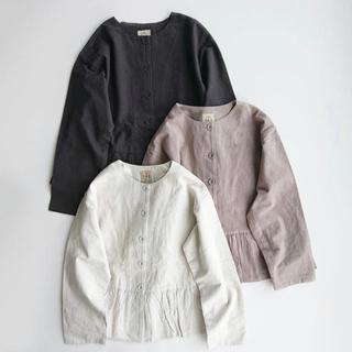 サマンサモスモス(SM2)の新品★サマンサモスモス    裾ギャザージャケット (ノーカラージャケット)