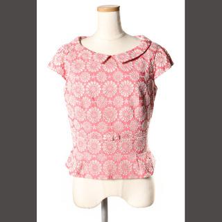 トッカ(TOCCA)のトッカ TOCCA CORN FLOWER ブラウス カットソー 半袖 刺繍 0(シャツ/ブラウス(半袖/袖なし))