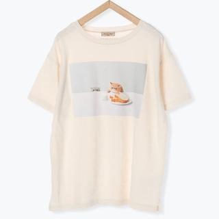 サマンサモスモス(SM2)の【ねこねこ食パン】フォトプリント半袖Tシャツ きなり(Tシャツ(半袖/袖なし))