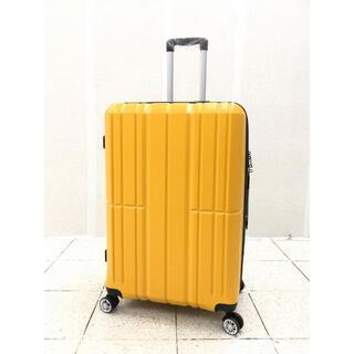 中型軽量スーツケース 8輪キャリーバッグ TSAロック付き Mサイズ イエロー(旅行用品)