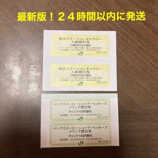 東京ステーションギャラリー入館割引券2枚 ベックスコーヒー ベッカーズ割引券2枚(美術館/博物館)