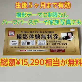 スタジオマリオ カメラのキタムラ 撮影テーマの縛り無し 撮影体験無料券 1枚(ショッピング)