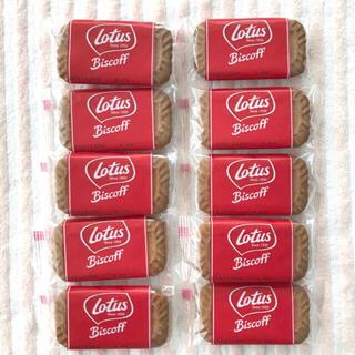 ロータス(LOTUS)のロータス カラメルビスケット ビスコフ 10枚(菓子/デザート)