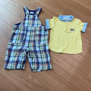コンビミニ(Combi mini)のコンビミニ Tシャツ オーバーオール セット(Tシャツ/カットソー)