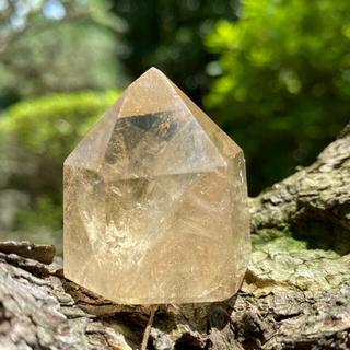 ミニ光の宮殿 ナチュラルシトリン 原石 非加熱 水晶(置物)