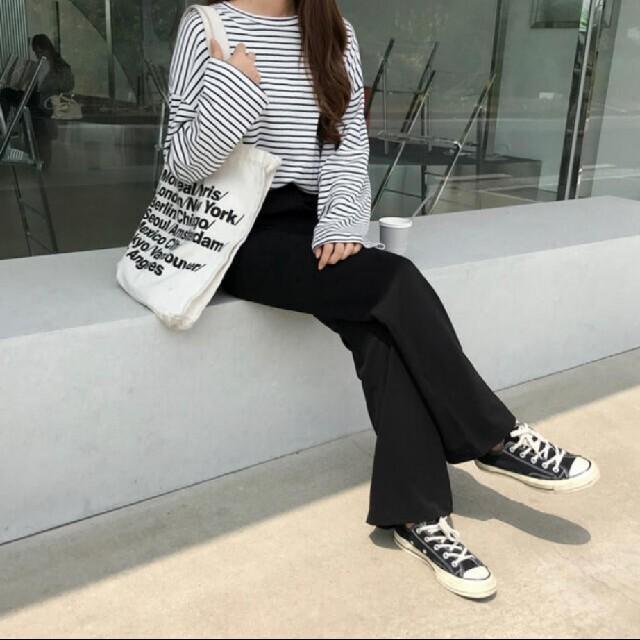 GOGOSING(ゴゴシング)のgogosing 脚長ハイブーツカット スラックス パンツ 韓国 レディースのパンツ(カジュアルパンツ)の商品写真
