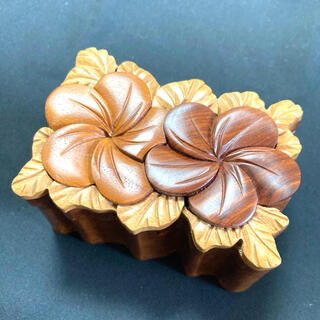 フランフラン(Francfranc)のハワイ 木製 小物入れ(小物入れ)