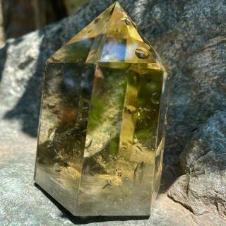 ナチュラルシトリン 非加熱 水晶 原石(置物)