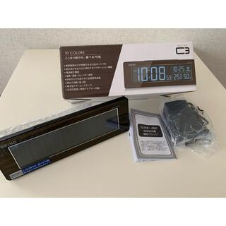 セイコー(SEIKO)の値下げ!セイコー クロック 目覚まし時計 電波 デジタル 木目 (置時計)