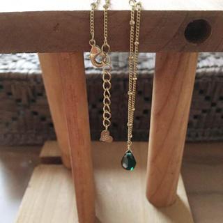 グリーン ドロップ型 ネックレス (ネックレス)