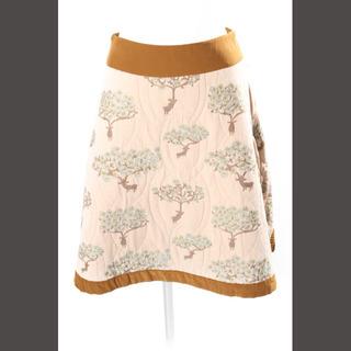 ミナペルホネン(mina perhonen)のミナペルホネン mina perhonen スカート bloom 台形 Aライン(ひざ丈スカート)