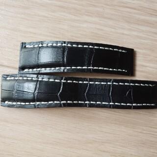 ブライトリング(BREITLING)のブライトリング用ウォッチバント黒24mm(レザーベルト)