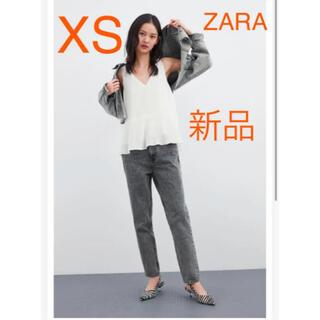 ザラ(ZARA)の【新品タグ付き】ZARA プリーツシフォンブラウス S 完売品(シャツ/ブラウス(半袖/袖なし))