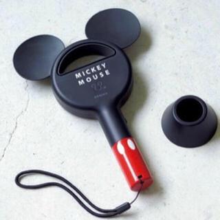 ディズニー(Disney)の【新品未開封】スプリング 9月号 増刊付録ミッキーマウス 羽根なしハンディ扇風機(扇風機)