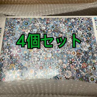村上隆 パズル SKULLS FLOWERS BLUE SIGNAL 4個セット(その他)