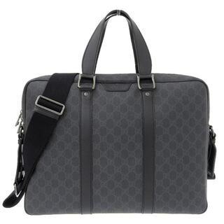 グッチ(Gucci)のグッチ GGスプリーム 2way ビジネスバッグ ブラック 黒 337081(ビジネスバッグ)